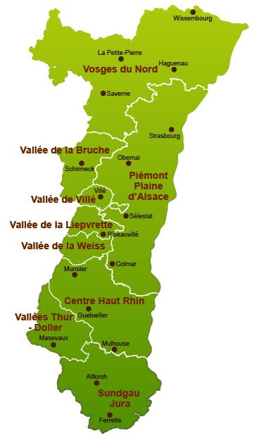 Carte Alsace Sundgau.Forestiers D Alsace Bourse Fonciere Forestiere
